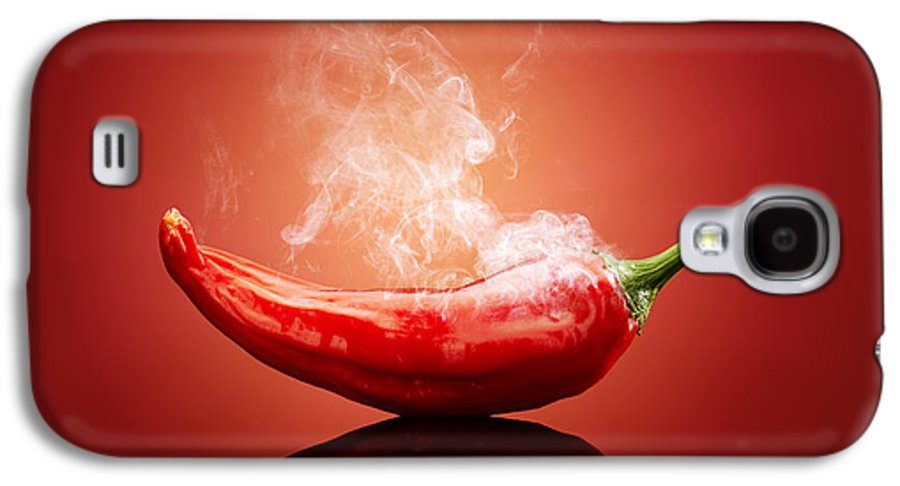 Chilli Galaxy S4 Case featuring the photograph Steaming Hot Chilli by Johan Swanepoel