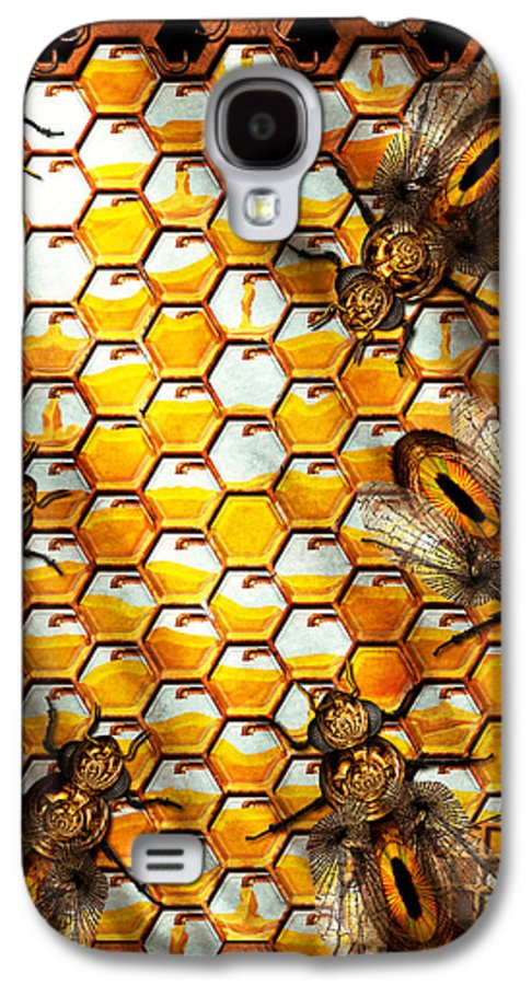 Self Galaxy S4 Case featuring the photograph Steampunk - Apiary - The Hive by Mike Savad