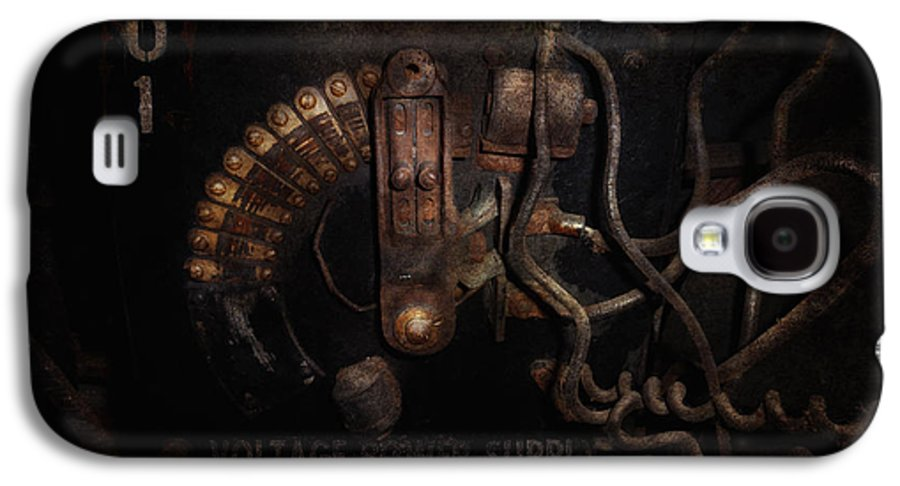 Hdr Galaxy S4 Case featuring the photograph Steampunk - Electrical - Rotary Switch by Mike Savad