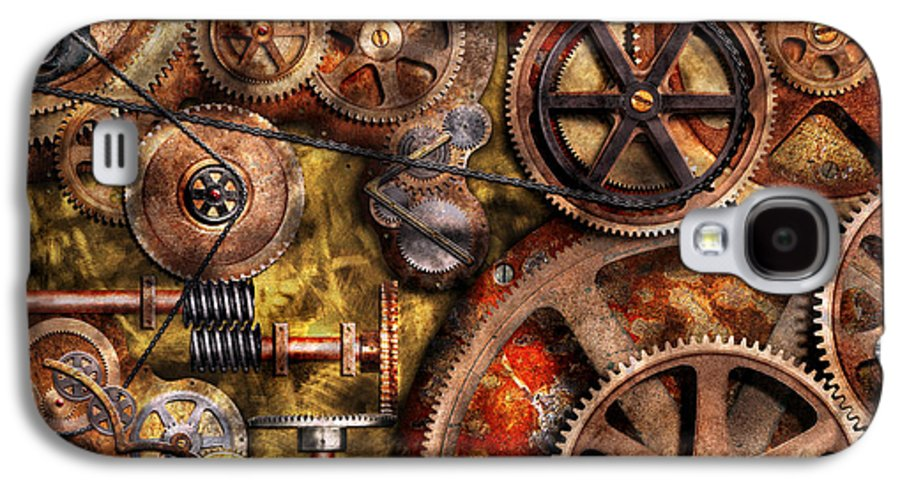 Steampunk Galaxy S4 Case featuring the photograph Steampunk - Gears - Inner Workings by Mike Savad