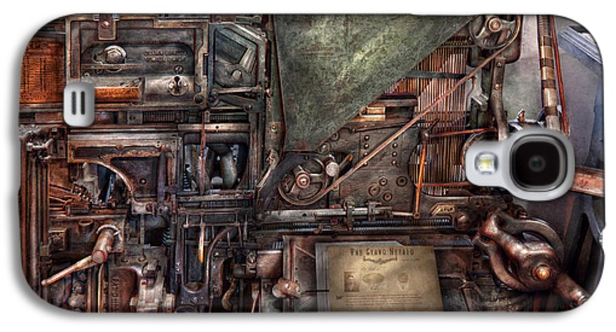 Steampunk Galaxy S4 Case featuring the photograph Steampunk - Machine - All The Bells And Whistles by Mike Savad