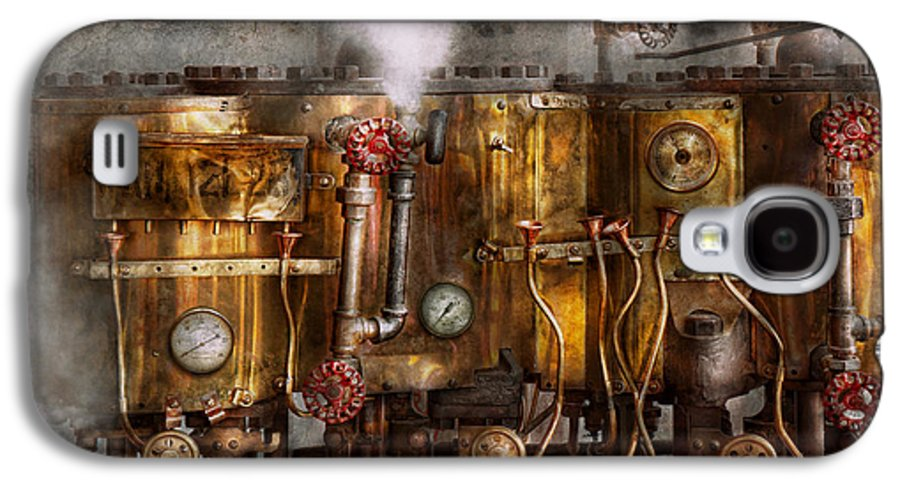 Steampunk Galaxy S4 Case featuring the photograph Steampunk - Plumbing - Distilation Apparatus by Mike Savad