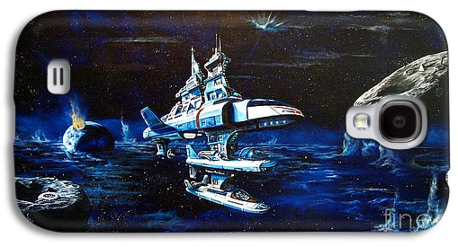 Alien Galaxy S4 Case featuring the painting Stellar Cruiser by Murphy Elliott