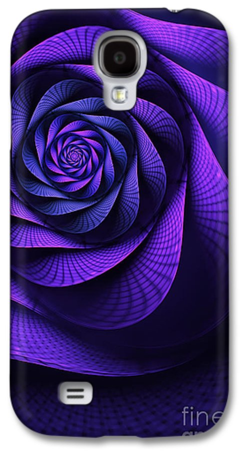 Art Nouveau Flower Galaxy S4 Case featuring the digital art Stile Floreal by John Edwards