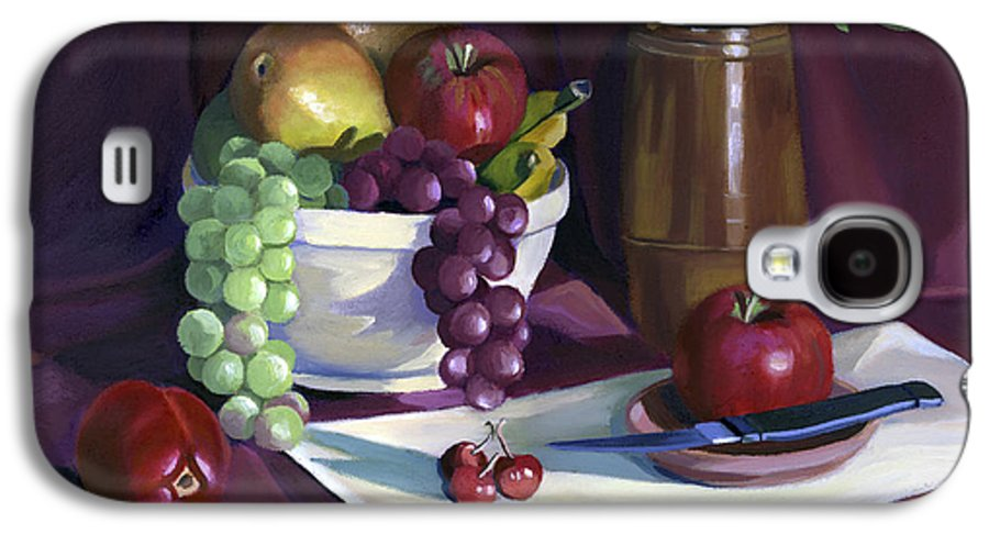 Fine Art Galaxy S4 Case featuring the painting Still Life With Apples by Nancy Griswold