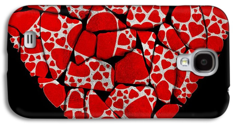 Wall Galaxy S4 Case featuring the painting Stoned In Love by Barbara Chichester