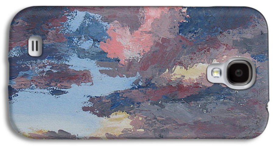 Stormy Sky Galaxy S4 Case featuring the painting Storm A Brewin by Janis Mock-Jones