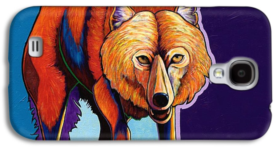Contemporary Galaxy S4 Case featuring the painting Strictly Business - Arctic Wolf by Joe Triano