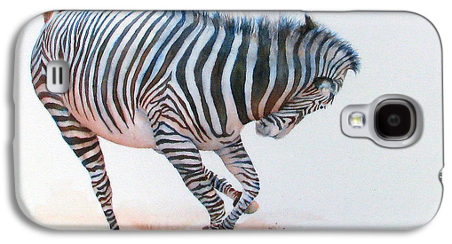 Zebra Galaxy S4 Case featuring the painting Stripes IIi by Patricia Henderson