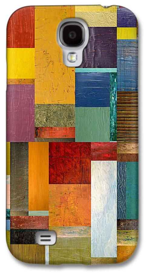 Textural Galaxy S4 Case featuring the painting Strips And Pieces Ll by Michelle Calkins