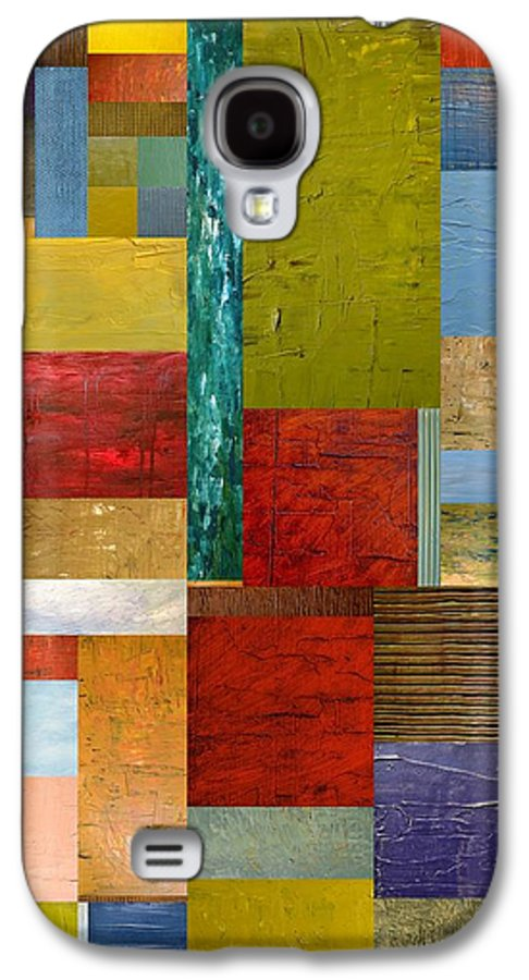 Textural Galaxy S4 Case featuring the painting Strips And Pieces Lll by Michelle Calkins