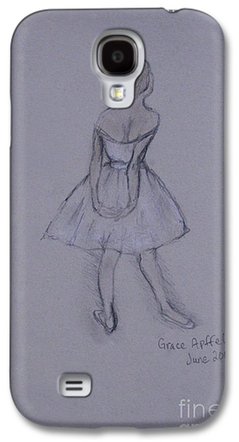 Ballet Galaxy S4 Case featuring the drawing Study Of Degas Ballet Dancer by Jennifer Apffel
