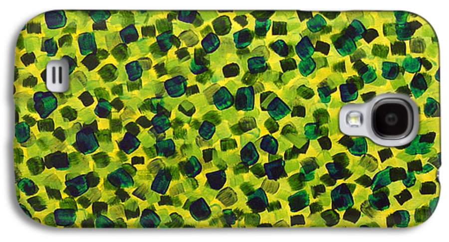 Abstract Galaxy S4 Case featuring the painting Sunlight Through The Trees 2 by Dean Triolo