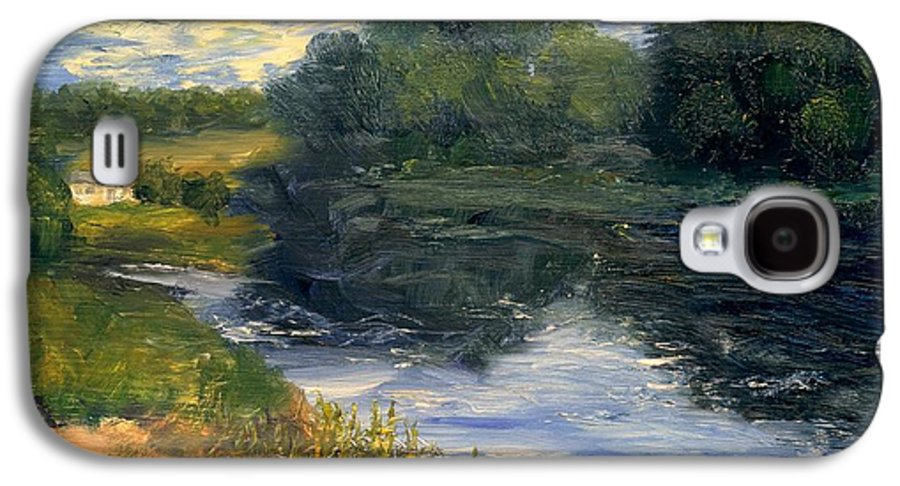 Landscape Galaxy S4 Case featuring the painting Summer At Jackson Lake by Gail Kirtz