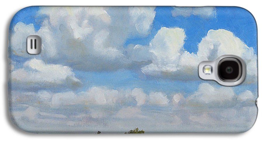 Landscape Galaxy S4 Case featuring the painting Summer Pasture by Bruce Morrison