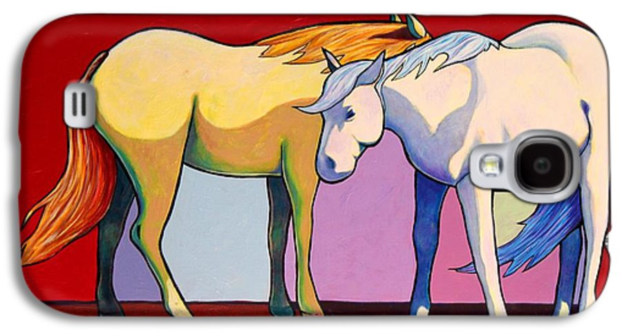 Wildlife Galaxy S4 Case featuring the painting Summer Winds - Mustangs by Joe Triano