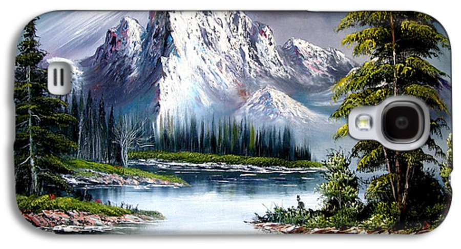 Wet On Wet Oil Painting ;happy Trees Print;bob Ross ;original Oil Painting Print;snow Print;nature Landscape Print;mountain Print;village Print;snow Print;sky Print;canvas Print;acrylic Print;greeting Card Print;framed Print;blue;white;brown;clay; Mud..... � Galaxy S4 Case featuring the painting Sun After Rain by Shirwan Ahmed