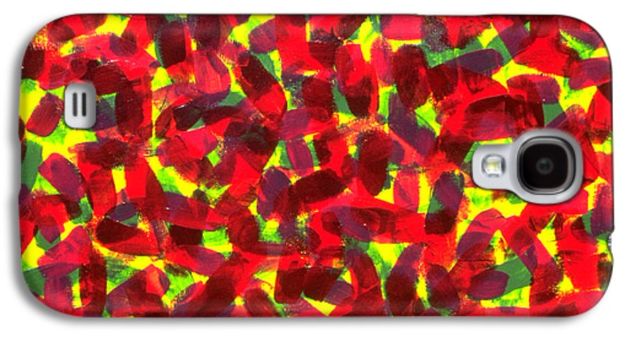 Abstract Galaxy S4 Case featuring the painting Sunlight Through The Trees by Dean Triolo