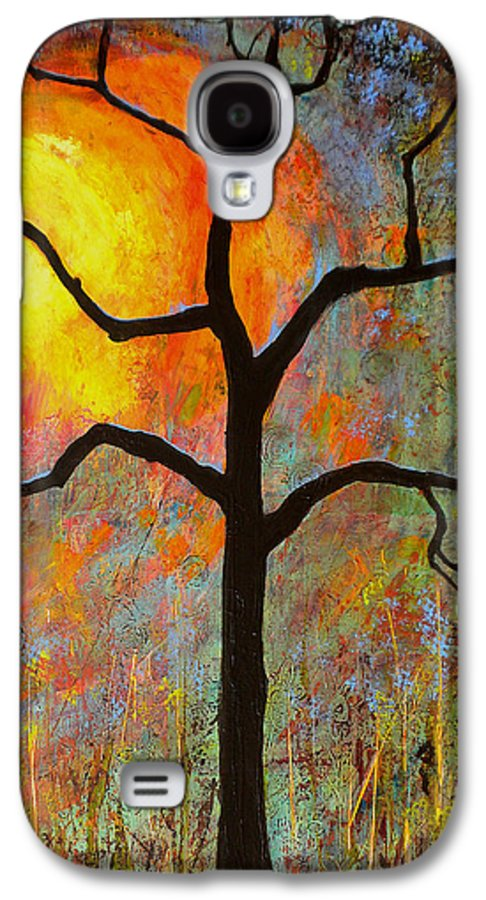 Tree Galaxy S4 Case featuring the painting Sunrise Sunset by Blenda Studio