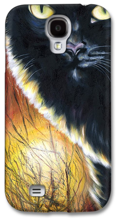 Cat Galaxy S4 Case featuring the painting Sunset by Hiroko Sakai
