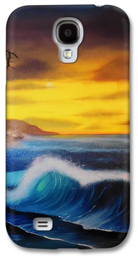 Bob Ross Reproduction Galaxy S4 Case featuring the painting Sunset Wave by Charles Eagle