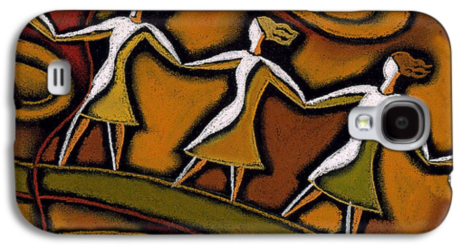 Bond Bonding Communities Community Connect Connecting Connection Feminism Feminist Friend Friendship Helping Hand Holding Hands Link Links Power Relationship Relationships Support Supportive Team Teamwork Together Togetherness Unite United Unity Woman Womanhood Womans Issues Working Together Romance Romantic Galaxy S4 Case featuring the painting Support by Leon Zernitsky