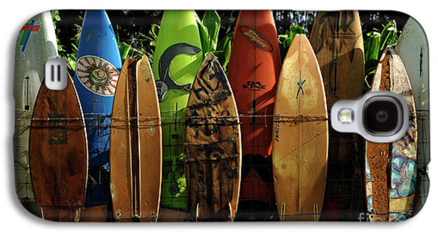 Hawaii Galaxy S4 Case featuring the photograph Surfboard Fence 4 by Bob Christopher