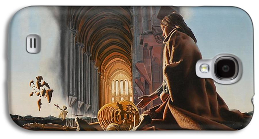 Surreal Galaxy S4 Case featuring the painting Surreal Cathedral by Dave Martsolf