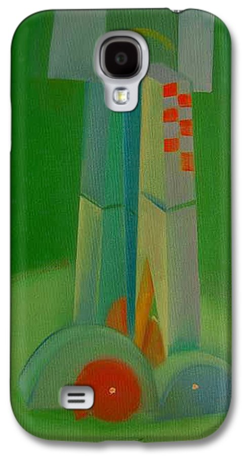 Cubist View Of Figure Galaxy S4 Case featuring the painting Survivors by Charles Stuart