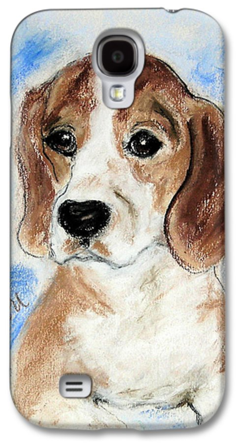 Dog Galaxy S4 Case featuring the drawing Sweet Innocence by Cori Solomon