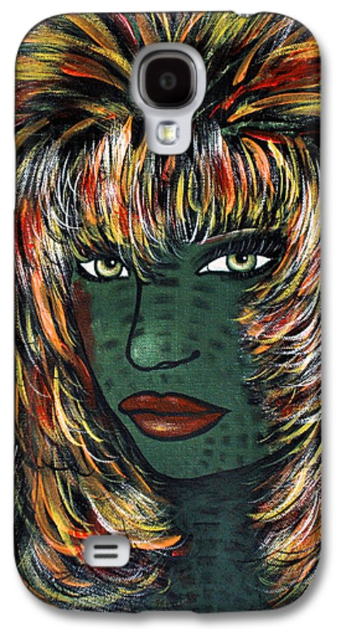 Woman Galaxy S4 Case featuring the painting Tattoo by Natalie Holland