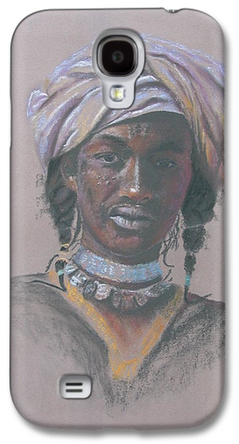 Portrait Galaxy S4 Case featuring the painting Tchad Warrior by Maruska Lebrun