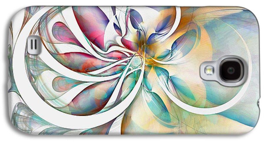 Digital Art Galaxy S4 Case featuring the digital art Tendrils 04 by Amanda Moore