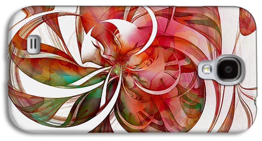 Digital Art Galaxy S4 Case featuring the digital art Tendrils 05 by Amanda Moore