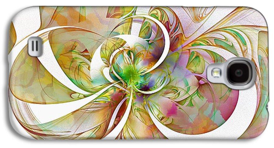 Digital Art Galaxy S4 Case featuring the digital art Tendrils 06 by Amanda Moore