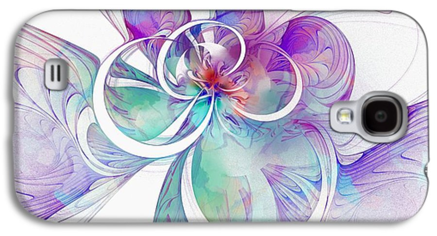 Digital Art Galaxy S4 Case featuring the digital art Tendrils 10 by Amanda Moore