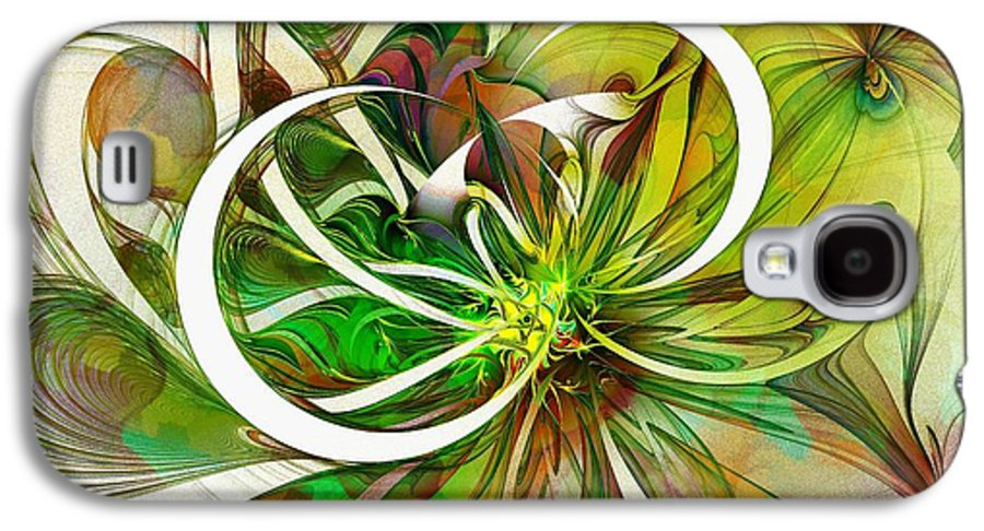 Digital Art Galaxy S4 Case featuring the digital art Tendrils 15 by Amanda Moore
