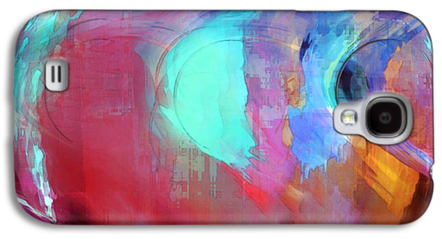 Abstract Galaxy S4 Case featuring the digital art The Afterglow by Linda Sannuti