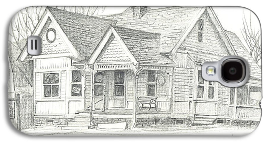 The Antique Shop Galaxy S4 Case featuring the drawing The Antique Shop by Kip DeVore