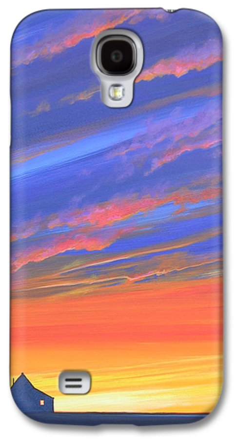 Sunset Galaxy S4 Case featuring the painting The Aunt's House by Hunter Jay