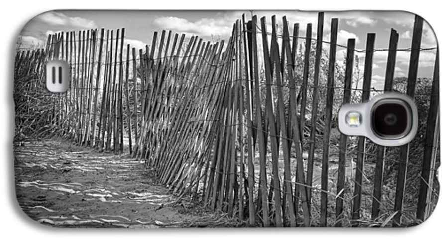 Beach Galaxy S4 Case featuring the photograph The Beach Fence by Scott Norris