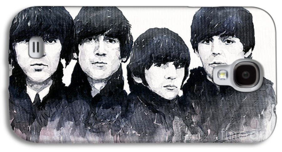 Watercolour Galaxy S4 Case featuring the painting The Beatles by Yuriy Shevchuk