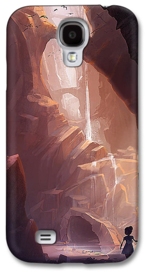 Canyon Galaxy S4 Case featuring the painting The Big Friendly Giant by Kristina Vardazaryan