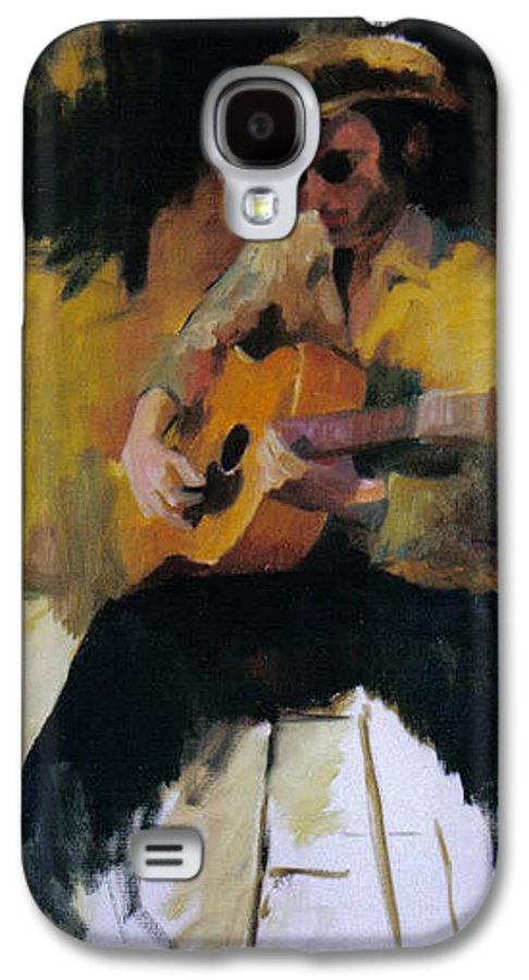 Man Galaxy S4 Case featuring the painting The Blues Man by John L Campbell
