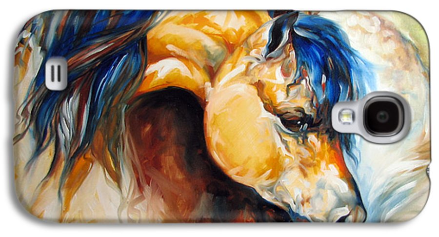 Horse Galaxy S4 Case featuring the painting The Buckskin by Marcia Baldwin