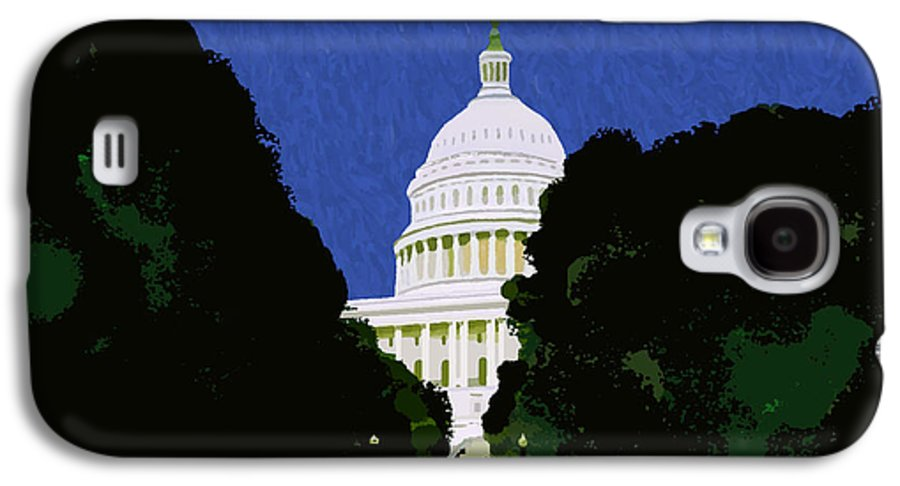 Capitol Galaxy S4 Case featuring the painting The Capitol by Pharris Art