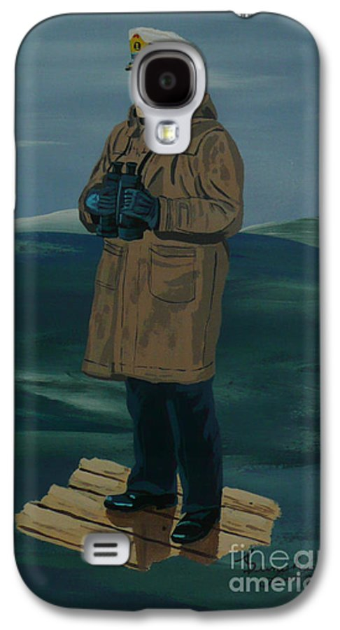 Captain Galaxy S4 Case featuring the painting The Captain by Anthony Dunphy