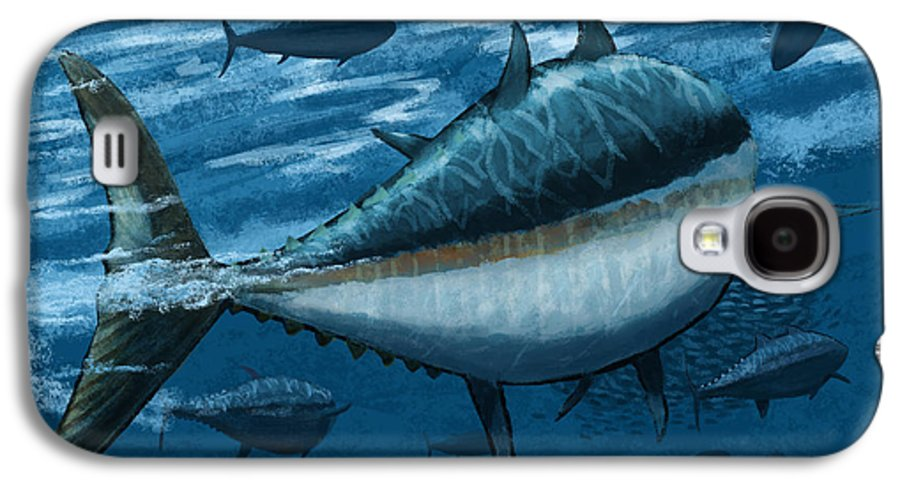 Tuna Galaxy S4 Case featuring the digital art The Chase by Kevin Putman