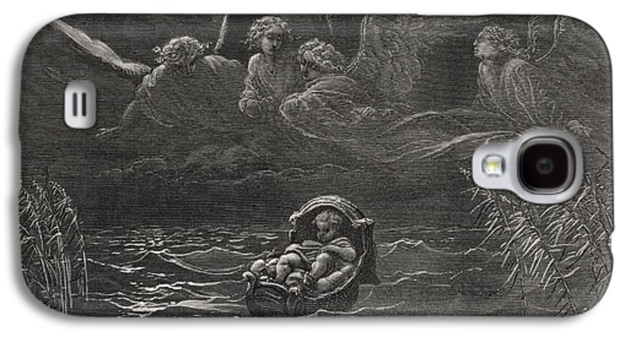 Baby Galaxy S4 Case featuring the painting The Child Moses On The Nile by Gustave Dore