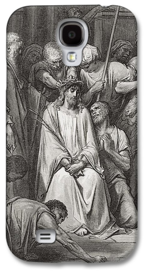 Jesus Christ Galaxy S4 Case featuring the painting The Crown Of Thorns by Gustave Dore